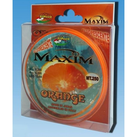 MONOFILO FILPESCA MAXIM ORANGE 250 MT