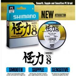 SHIMANO KAIRIKI PE SX8 STEEL GRAY 150 MT